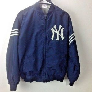 Adidas NY New York YANKEES Zip Up Lined Jacket